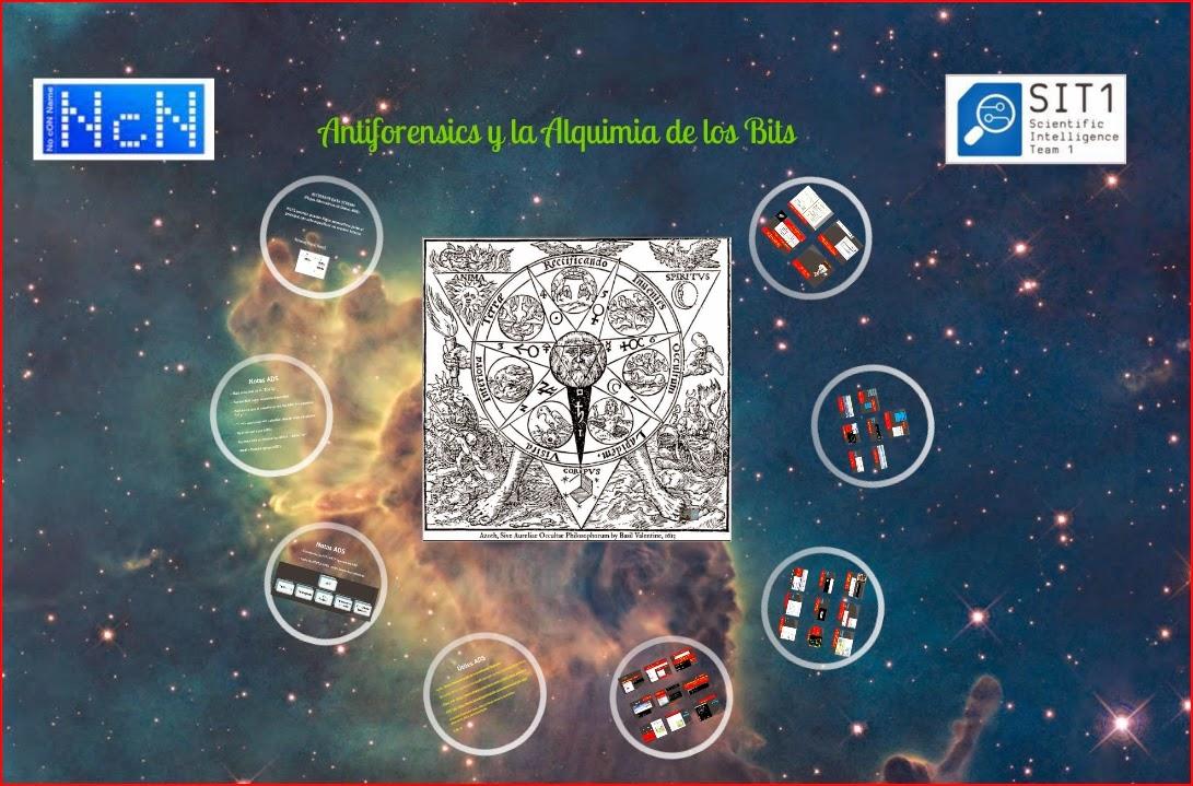 Presentación de Antiforensics y la Alquimia de los bits