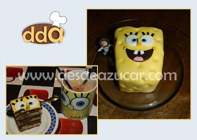 chocolate, tarta bob esponja, tarta fondant, tarta fondant Sevilla, tarta, bob esponja,
