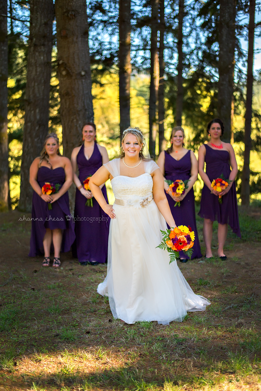 eugene springfield oregon wedding photography bridesmaids
