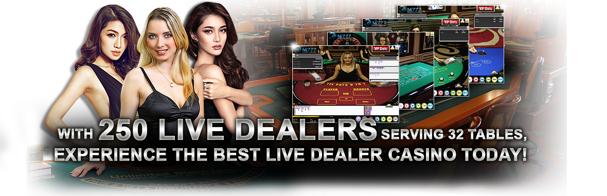 250 Live Dealers Serving 32 Tables, experience the best Live Dealer Casino today!