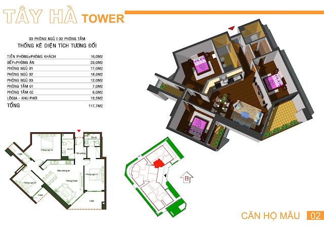 Căn 02 Tây hà tower