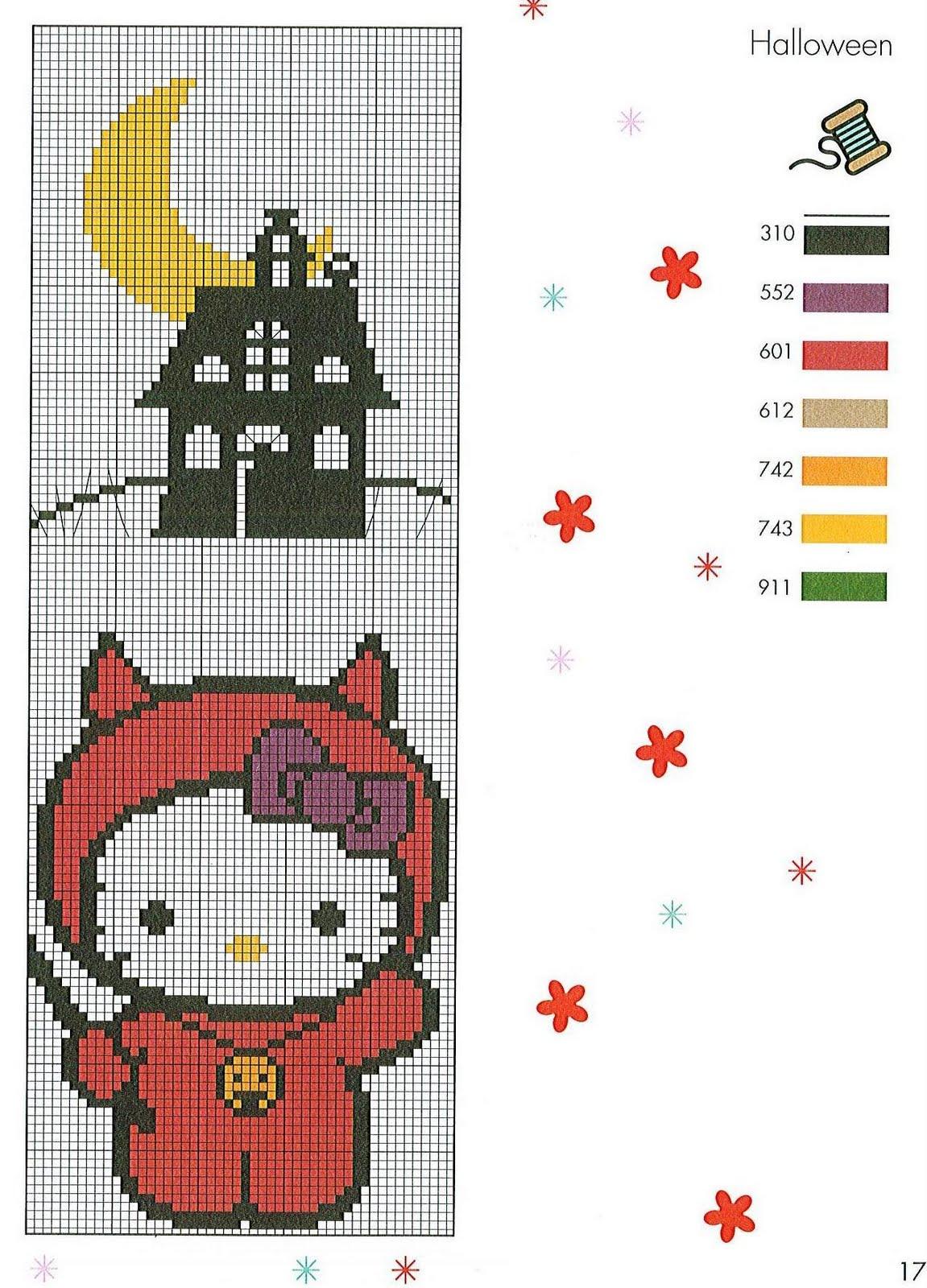 Halloween Tree Cross Stitch Pattern 98
