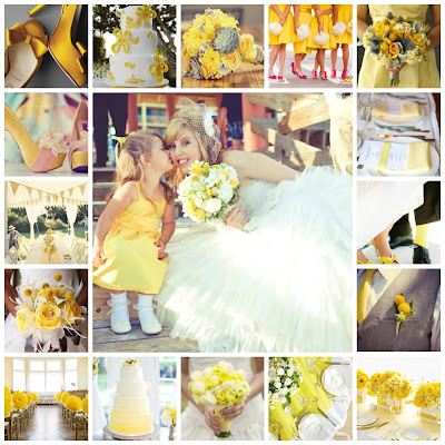 Yellow wedding collage