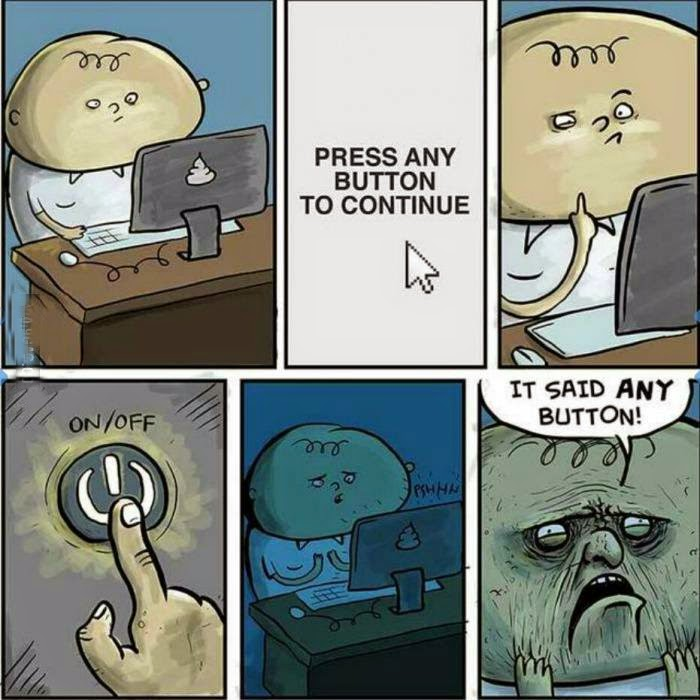 Funny press any key to continue