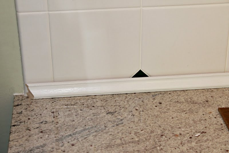 Kitchen Backsplash Edge kitchen update ~ goodbye tile backsplash!
