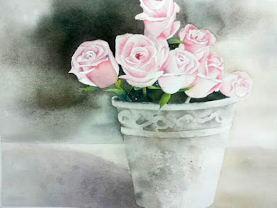 Rose Delight by Poulami Basu ( part of her portfolio on www.indiaart.com )