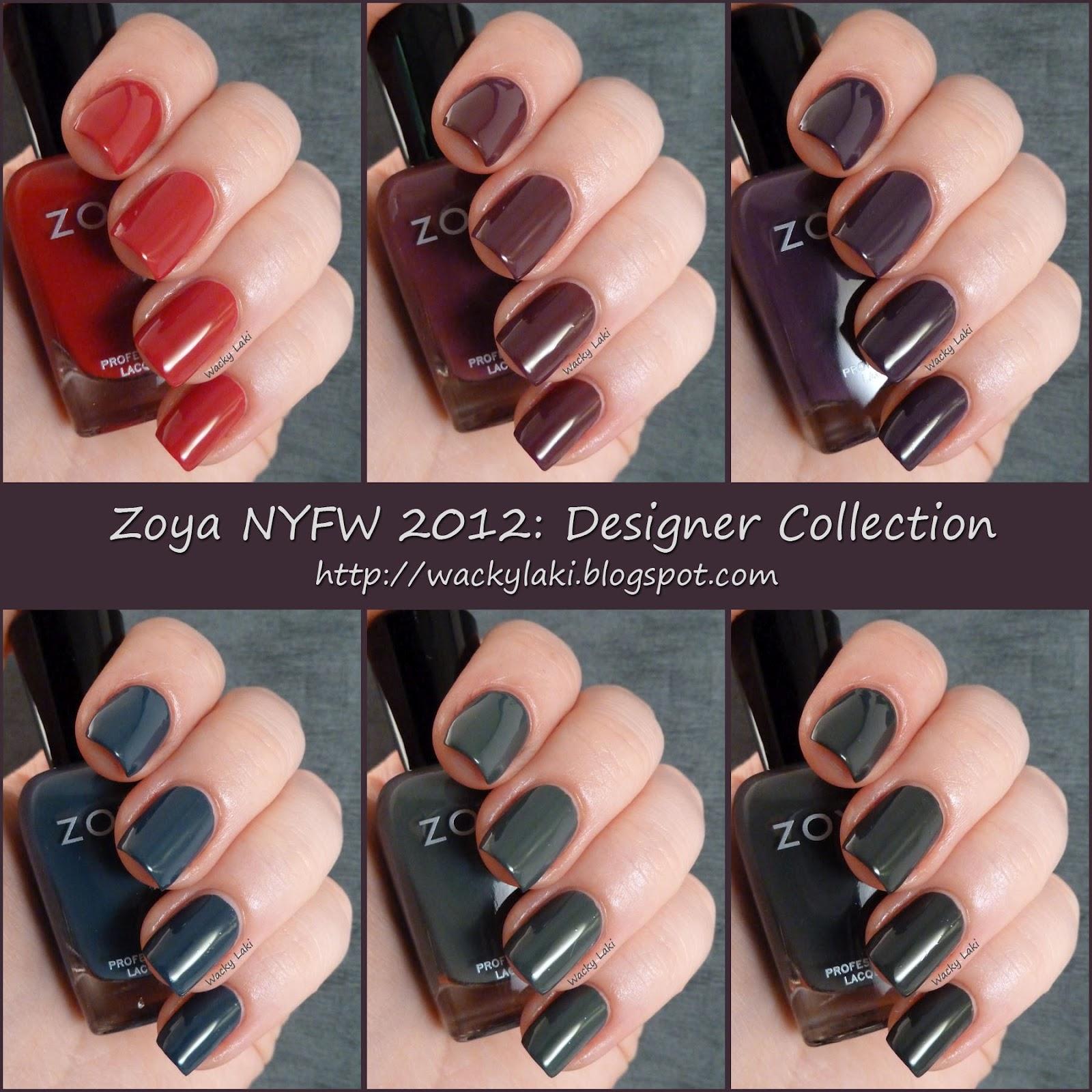 Wacky Laki: Zoya Designer Collection NYFW Fall 2012