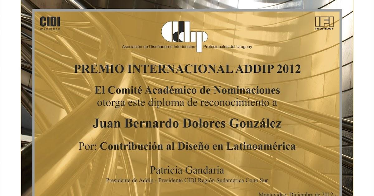Federaci n de colegios dise adores de interiores premio - Disenadores de interiores espanoles ...