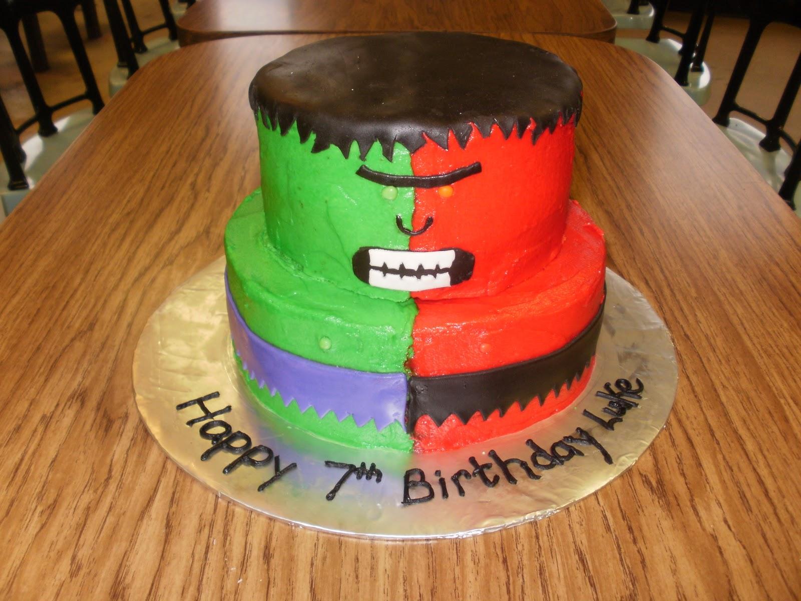 The Many Adventures of a Sunflour Cake Mom Compound Hulk Cake