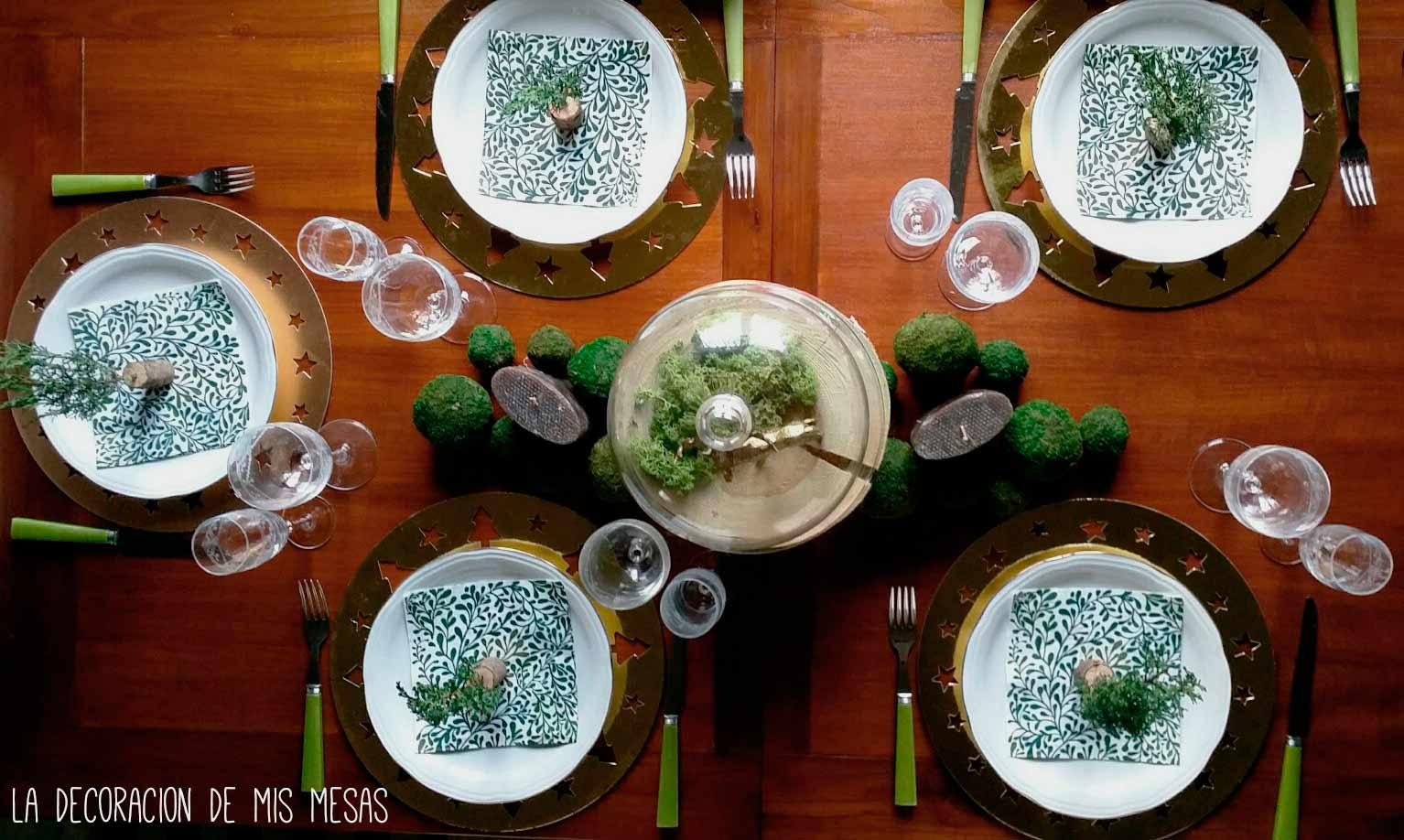 decoracin mesa navidad