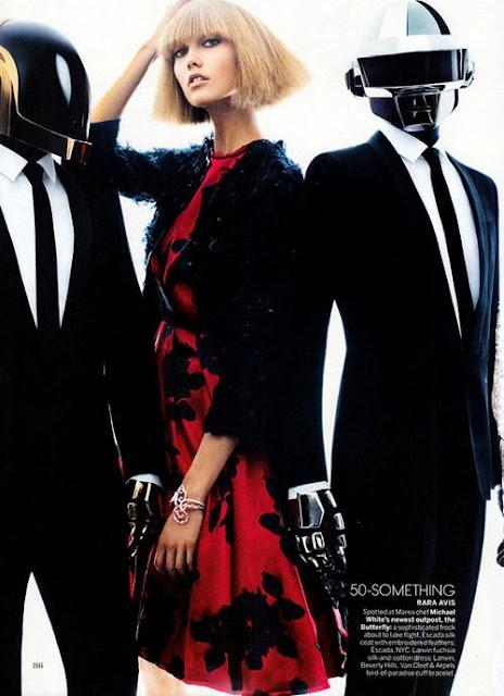 Karlie Kloss and Daft Punk for VOGUE