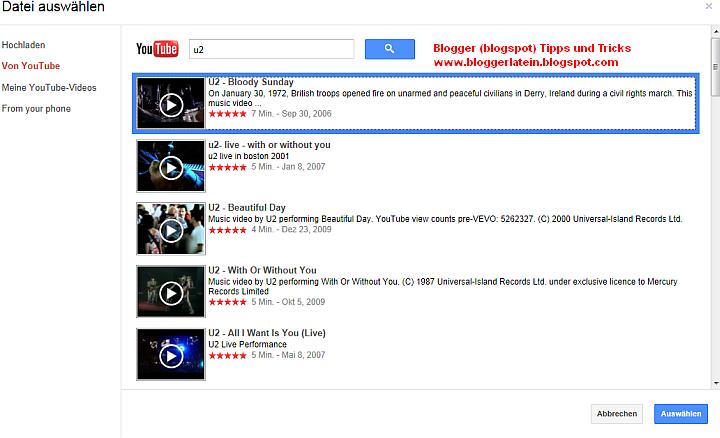 YouTube Video bei Blogger Blogspot einbetten, einfügen bzw. anzeigen