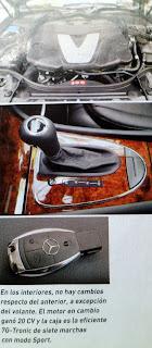 palanca, motor, llave Mercedes Benz E320 CDI