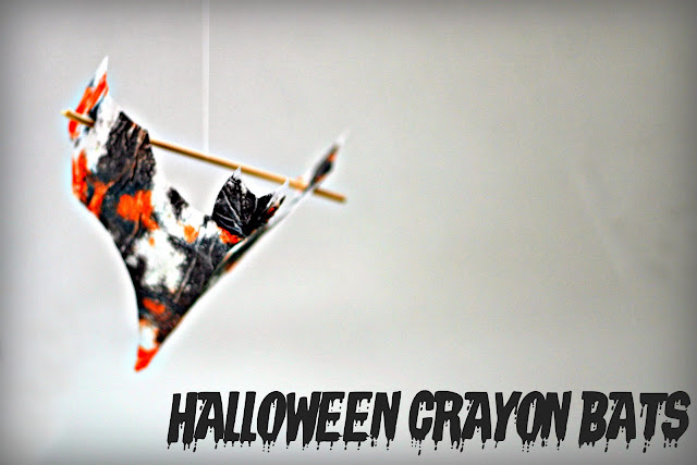 Kids Craft - Halloween Crayon Bats