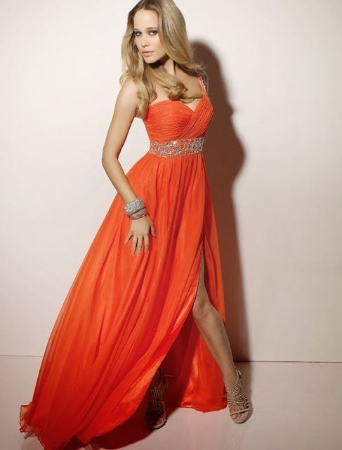 orange prom dress