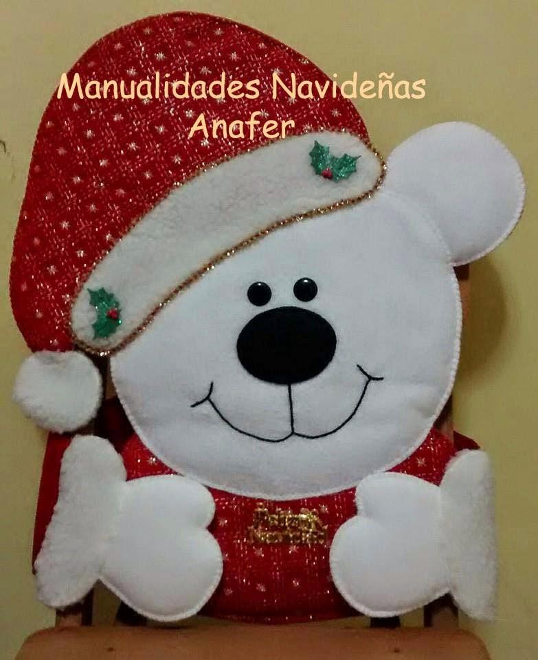 Manualidades anafer cubresillas navide os - Plantillas para manualidades de fieltro navidad ...