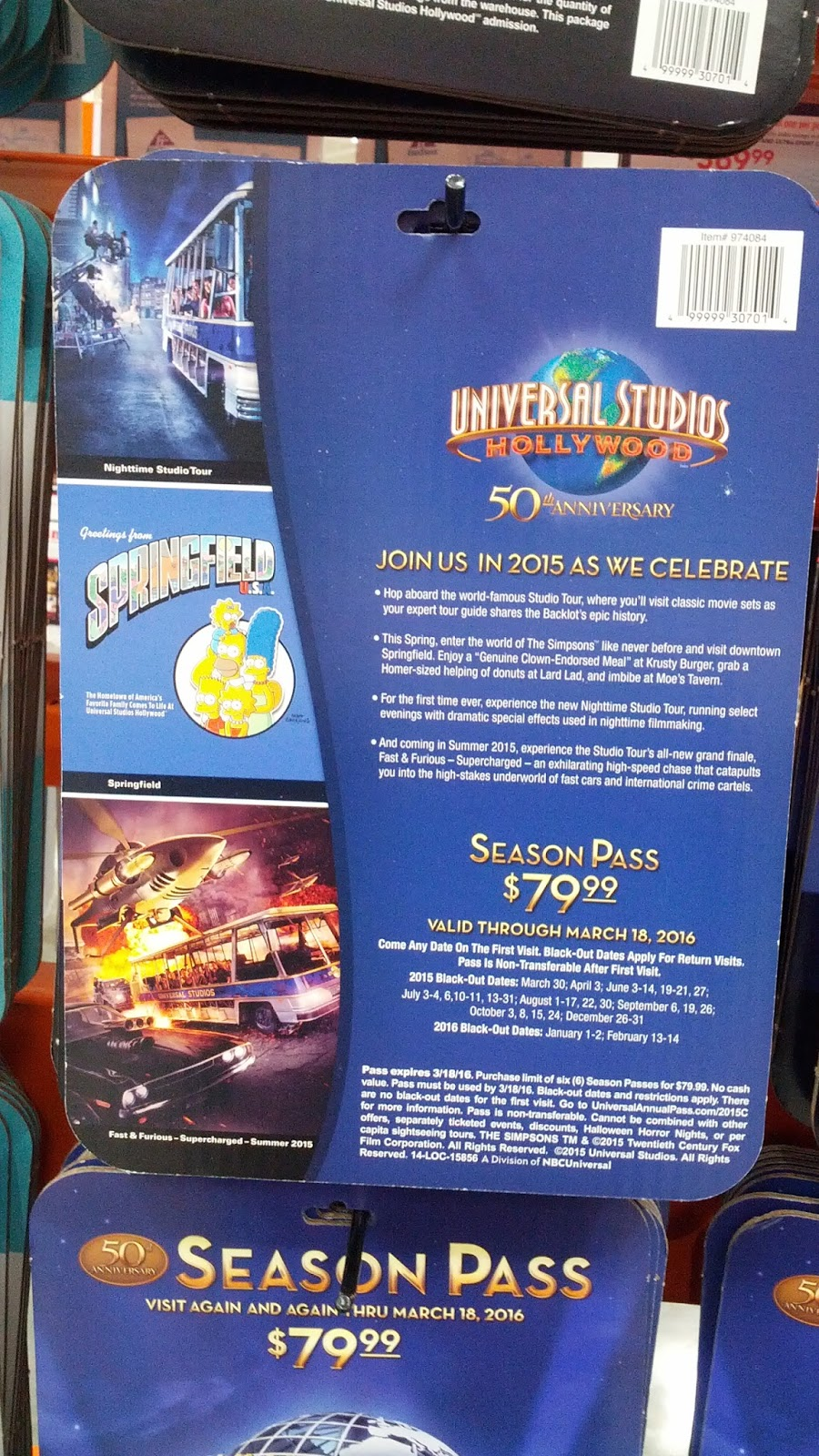Universal Studios in Hollywood 2015 Season Pass