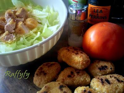 insalata stile mcdonald di bocconcini di pollo