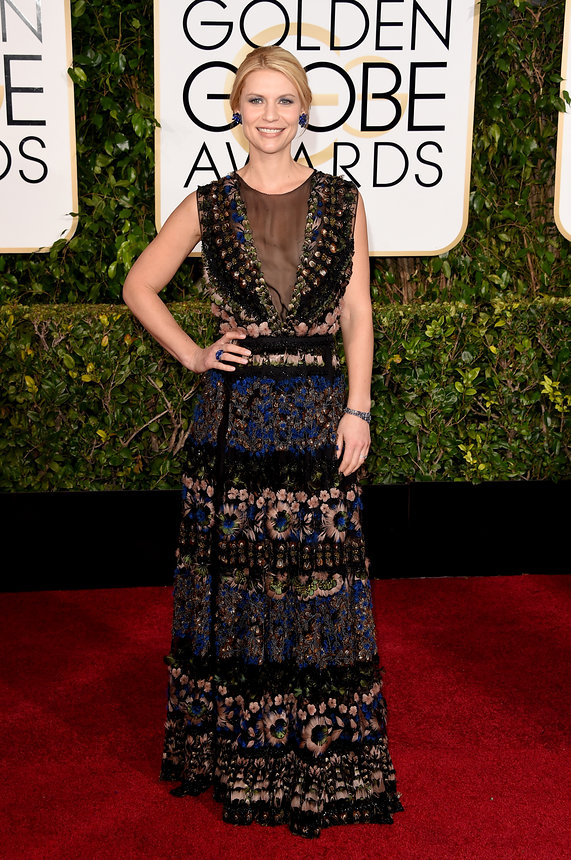 Claire Danes in Valentino at the Golden Globes