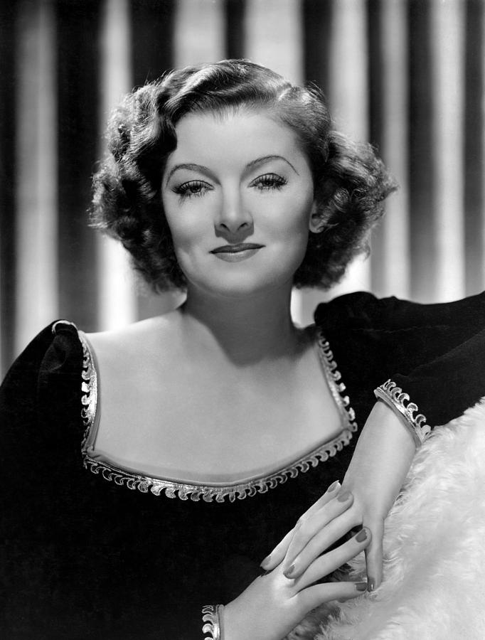 Moving Pictures: Myrna Loy Pastel by Charles Gates Sheldon