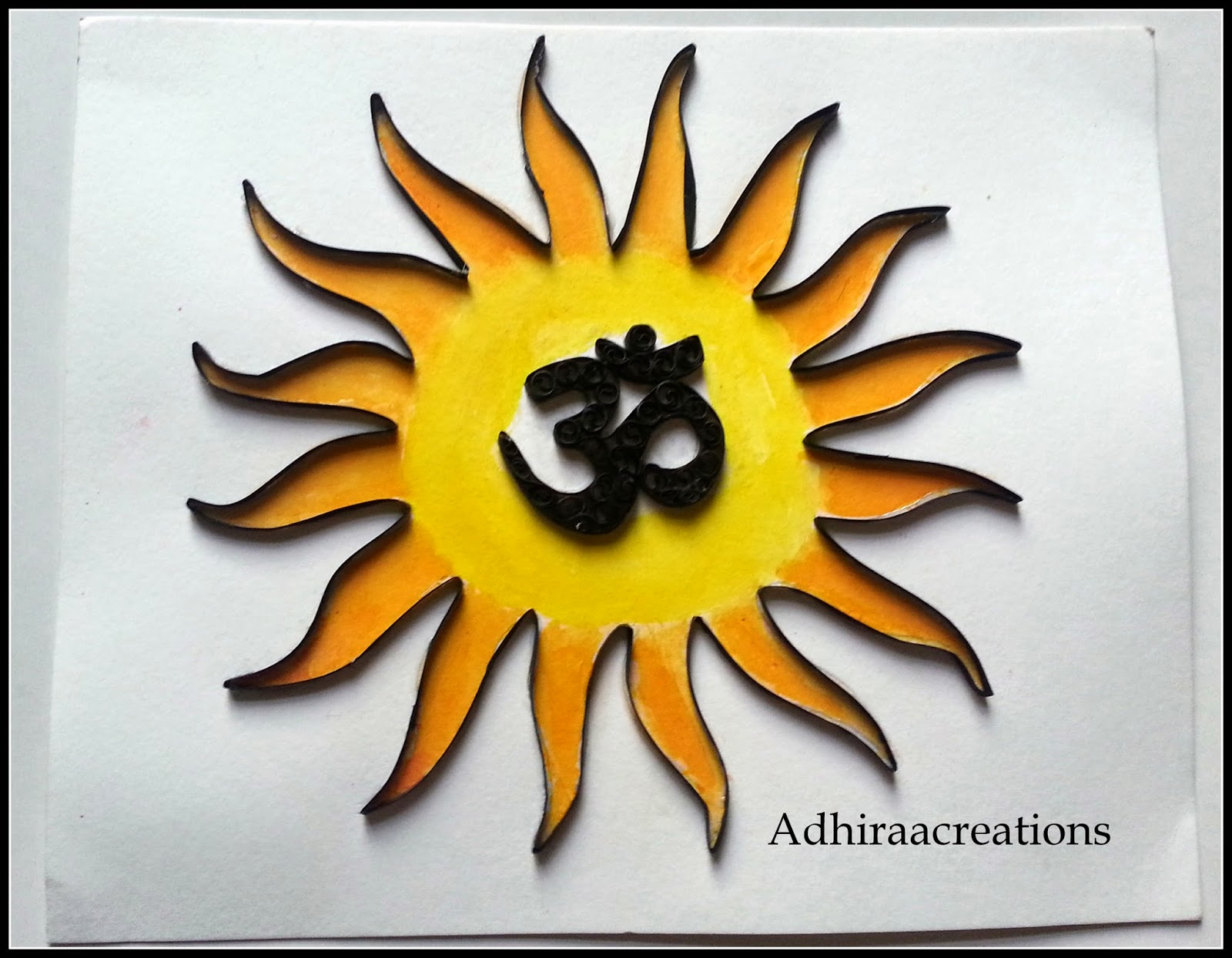 Adhiraacreations: Quilled Om
