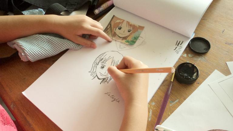 Foto del Curso de dibujo manga en el Casco Viejo en Panamá