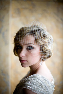 short hair wedding veil styles