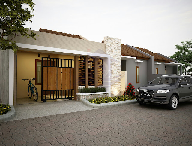 Desain Eskterior Renovasi Rumah Ibu Rahma Karanganyar