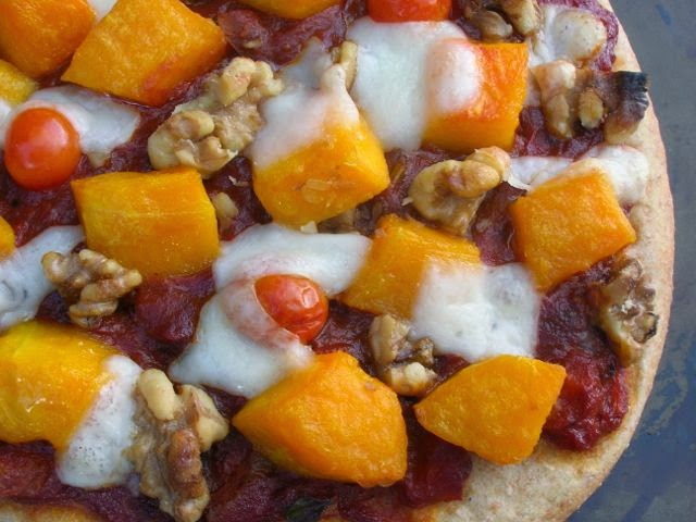 the best pizza ever - squash, walnut and goat's cheese from st helen's farm
