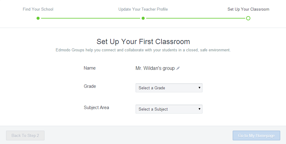 Set Up Your First Classroom