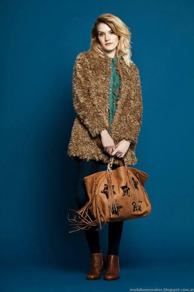 Tapados de piel 2015 Wanama Mujer. Moda otoño invierno 2015.