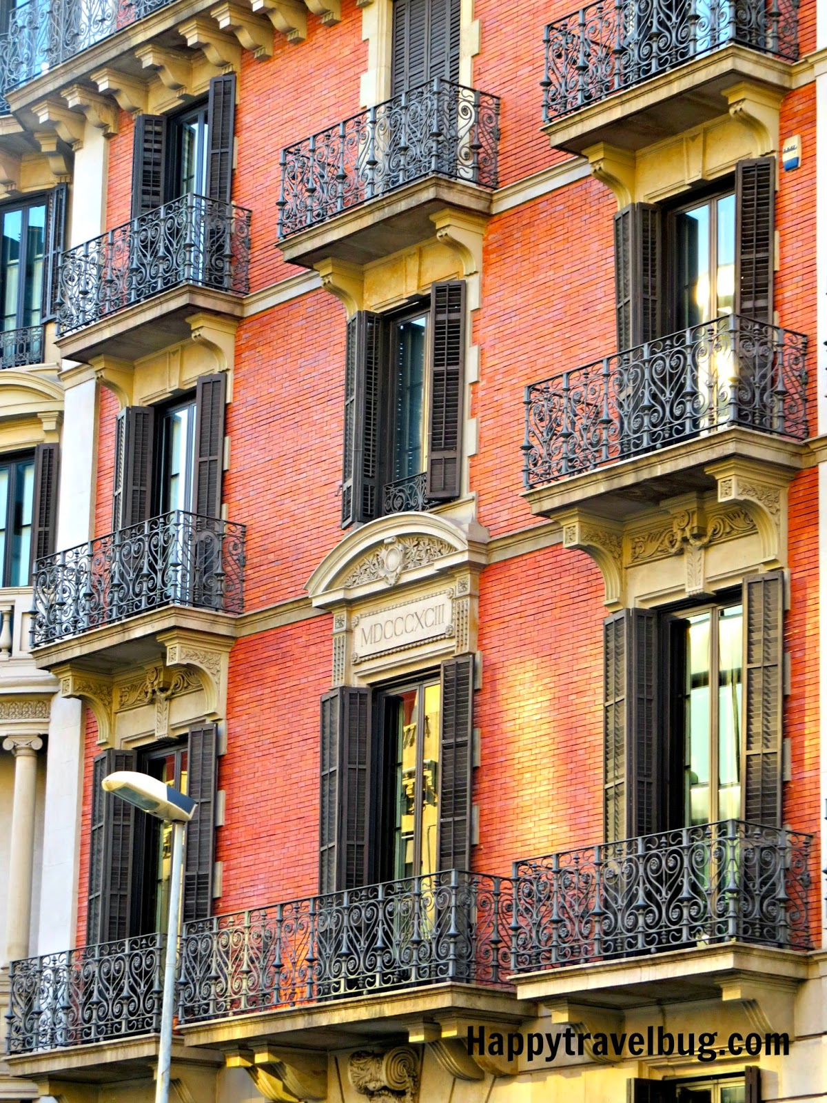 Barcelona, Spain building with balconies