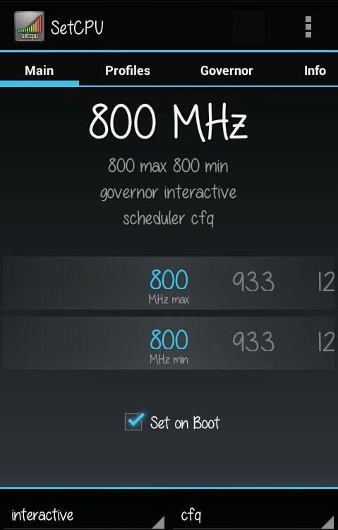 Set Clock CPU Asus Zenfone