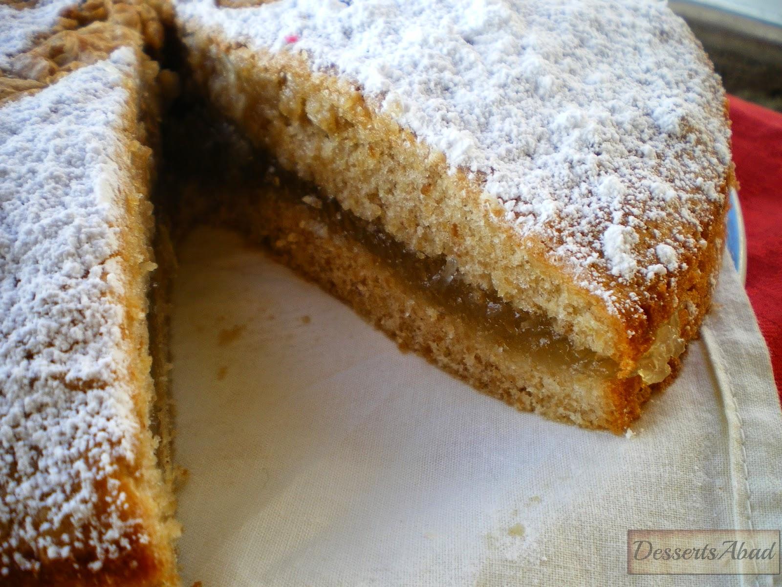 Torta compostelana con cidra