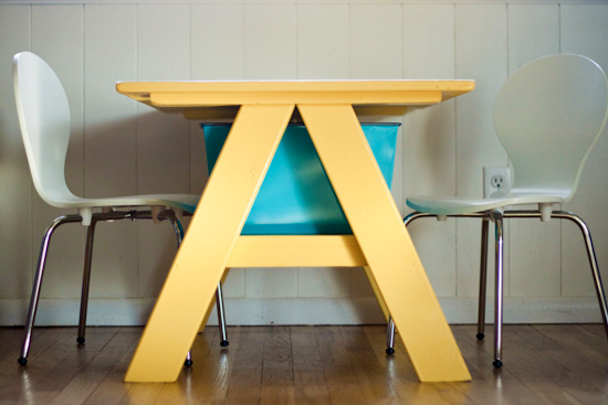 Strawberry chic pottery barn kids table diy for Diy barn table