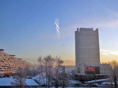 Strange Double Helix Cloud Spotted in Russia