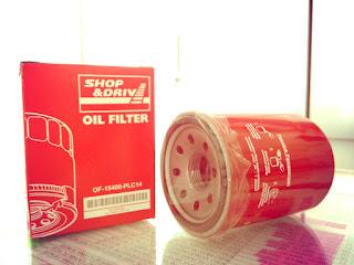 Filter Oli Shop&Drive,filter oli buatan Astra untuk Honda