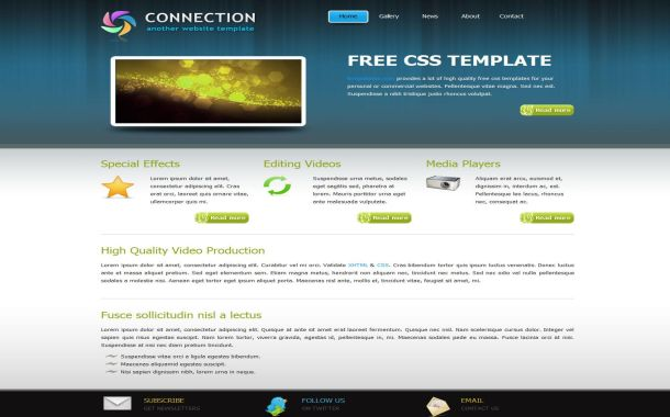 Free Blue Gray Portfolio CSS Website Template