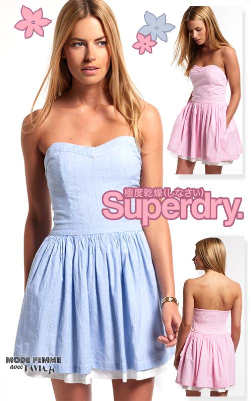 Robe courte coton Superdry