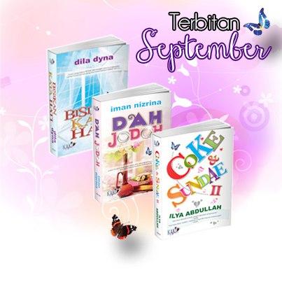 assalamualaikum semua sahabat kn tempahan untuk novel sept 2012