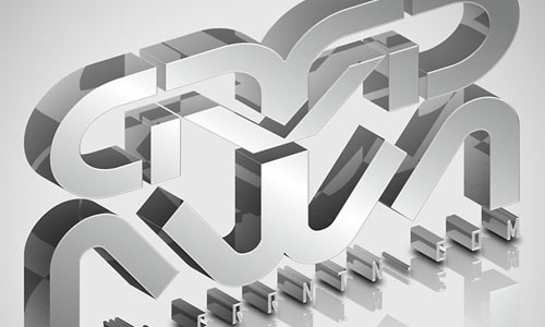 Create Elegant, Glassy, 3D Typography in Photoshop and Illustrator 