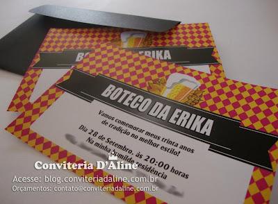 Convite Boteco Mulher Feminino