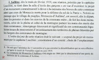 Ouvrage Monuments aux morts Corse