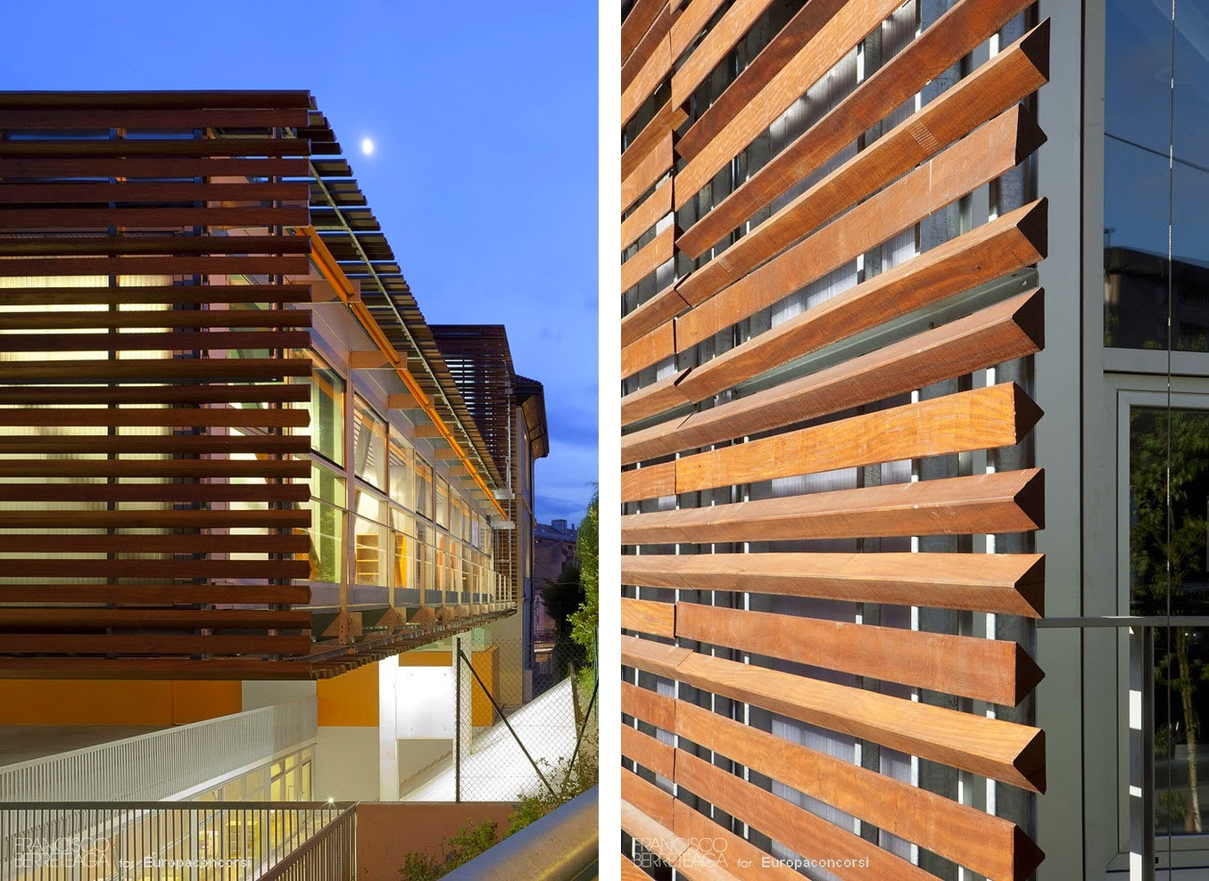 Arquitectura dise o interior persianas de madera en el - Fachadas arquitectura ...