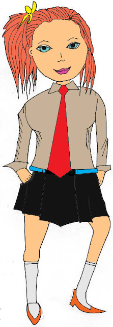 cartoon girls clip art