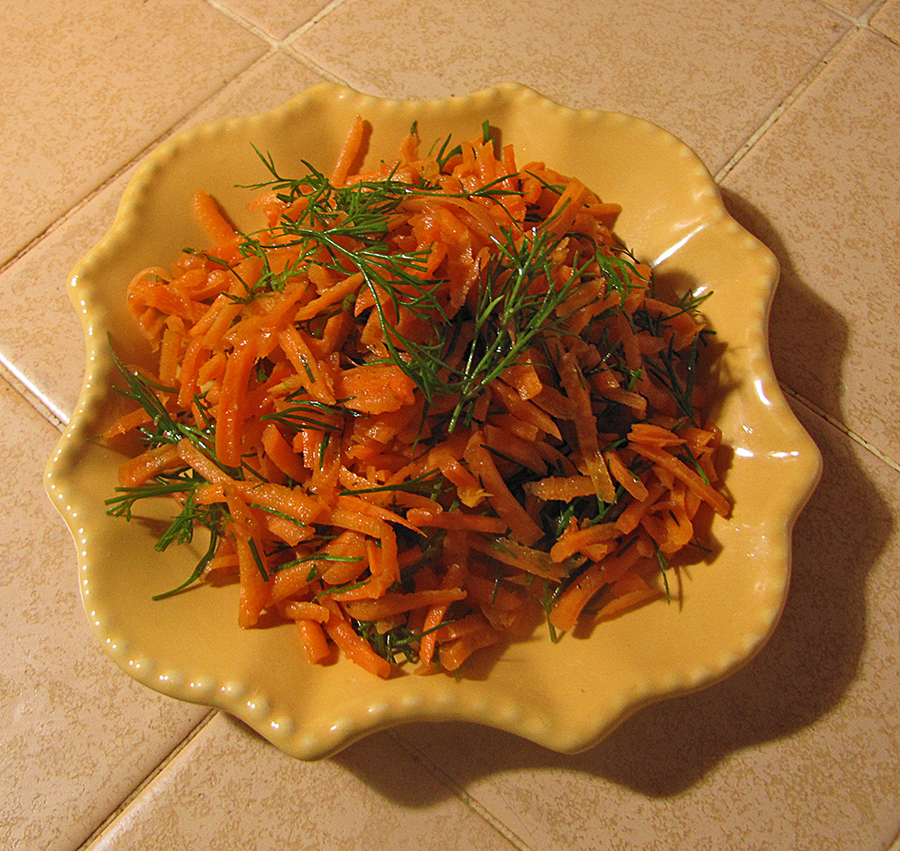 Plated Carrot Dill Salad