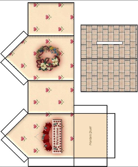 Moldes de casas de papel para imprimir - Imagui