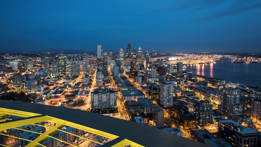 Seattle at Dusk, Seattle, WA -- by Harpreet Grewal