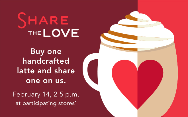 News: Starbucks   Valentineu0027s Day BOGO, 2 To 5 Pm