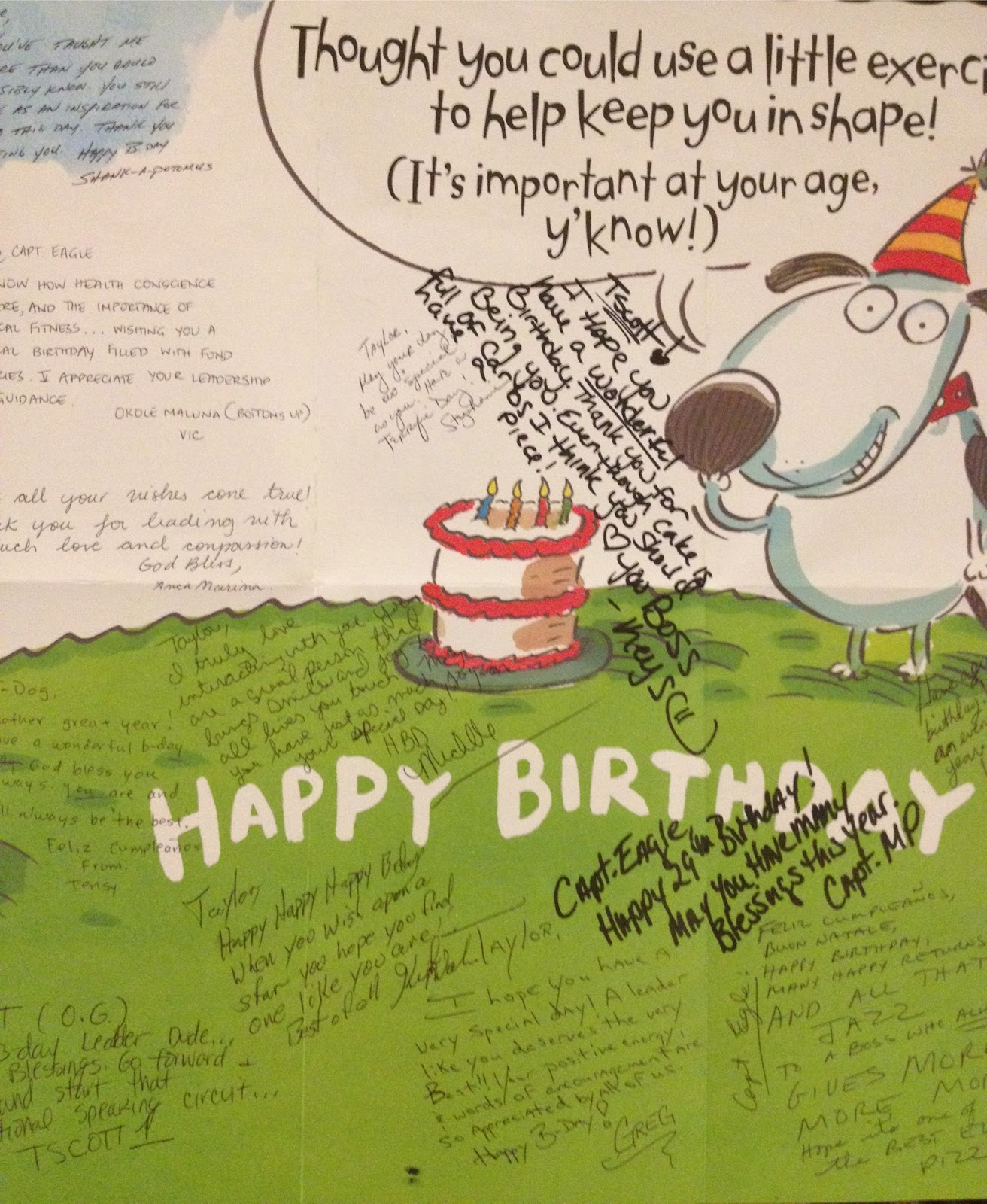 The entire team signed a birthday card…and they didn't justsign ...